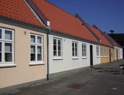 Häuserzeile in Varde/Dänemark