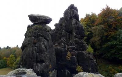 Die Externsteine Im Teutoburger Wald im Herbst