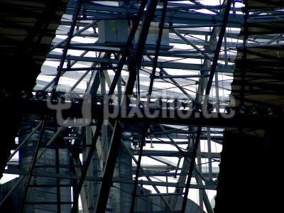 Dachkonstruktion der Allianzarena in München