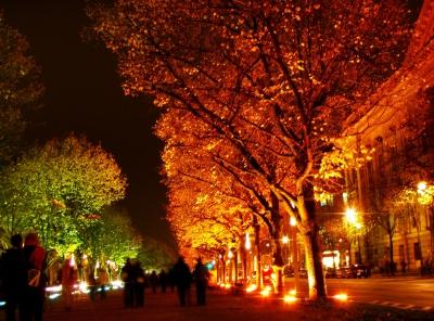 Unter den Linden beim Festival of Lights