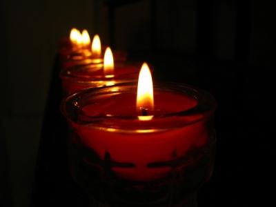 Kerzenreihe