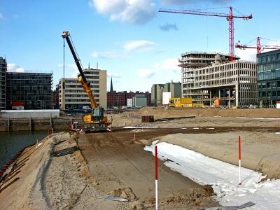 Hafencity - Baustelle Marco-Polo-Terrassen