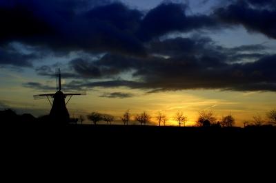 Hollicher Mühle im Sonnenuntergang