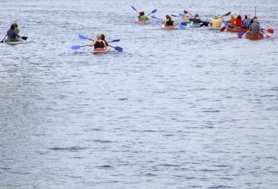 Freizeit-Paddler und -Kanuten
