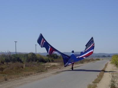 Erster Flugversuch