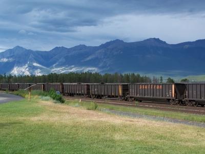 Güterzug in Jasper