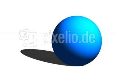 Kugel blau mit Schatten