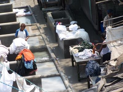 Wäsche waschen in Bombay