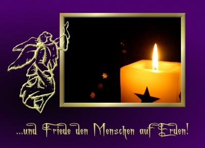 Aira's Postkarten - ...und Friede den Menschen auf Erden.....