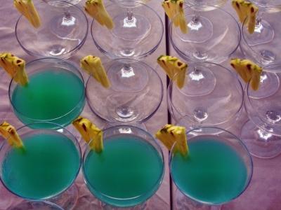 Giftgrüner Cocktail
