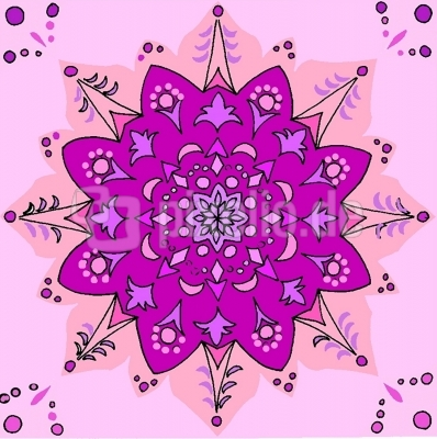 Mandala  viola-rosa