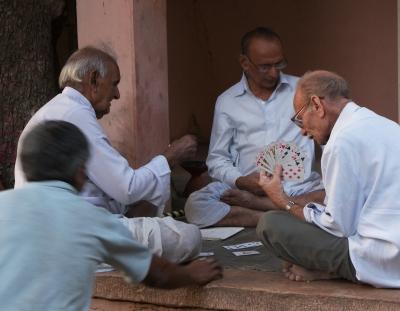 Kartenspieler in Indien