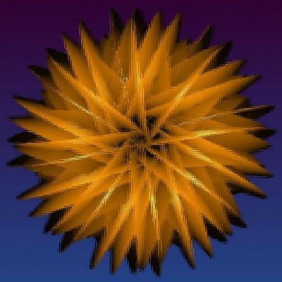 Fraktal 150 - Stern hinter Glas