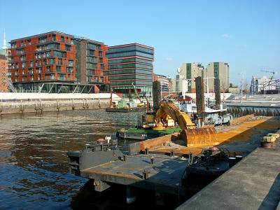 Hafencity - am Kaiserkai