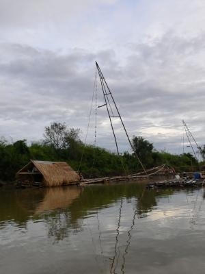 Floßfischer am Mekong (Thailand)