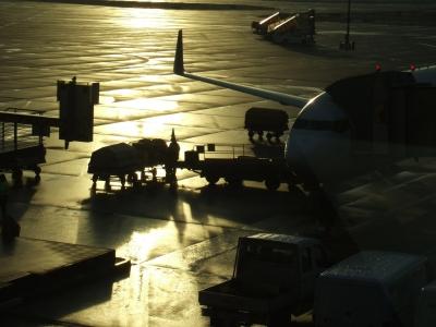 Verladung Flugreise-Gepäck