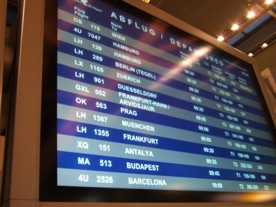 Abflugzeiten Bildschirm