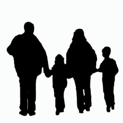 Silhouette Familie