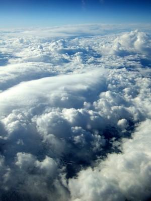 Wolkenteppich hoch