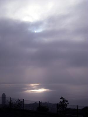 Nebel über Montreux