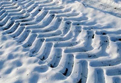 Spuren der Landwirtschaft - auch im Winter