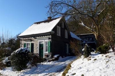 Bergisches Schieferhaus im Winter #3
