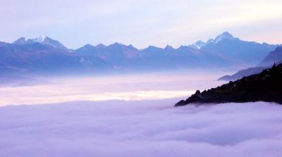 Erwachen über`m Nebelmeer