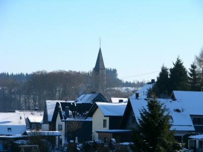 Winterliches Dorf