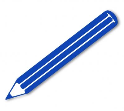Kostenloses Foto: Grafik: Farbstift blau - pixelio.de