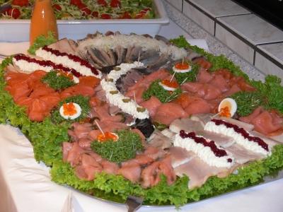 Fisch und Lachsplatte Buffet