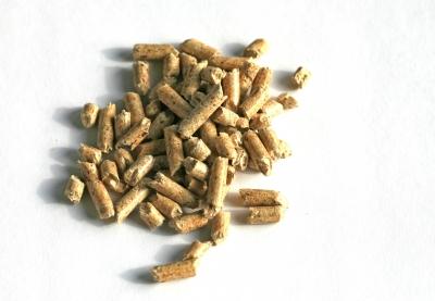 kleine Holzpellets
