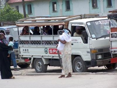 Busverkehr in Sansibar