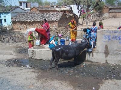 Indische Dorfszene