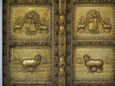 Tor am Palast in Jaipur