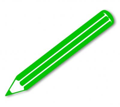 Grafik: Farbstift grün