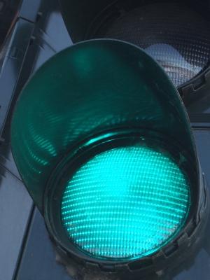 Grünes Licht an der Ampel