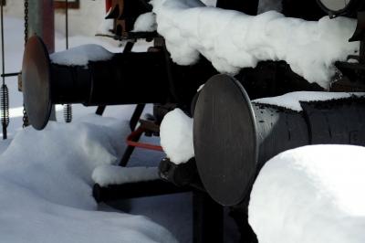 Eisenbahn im Schnee..