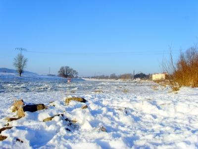 Elbe Wintermorgen 2009 - Minus 21 Grad II