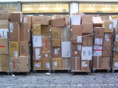 Die Kartons sind gepackt