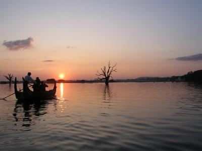 Bootspartie in der Nähe von Mandalay/Burma