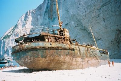 Schmugglerschiff Zakynthos