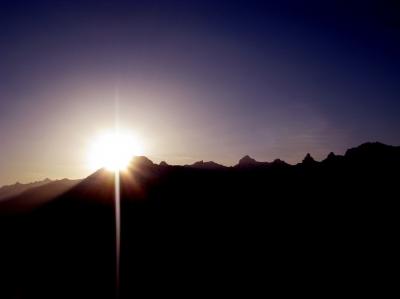 Sonnenuntergang über dem Grand Chavallard