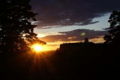 Sonnenuntergang in Halden