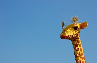 lebensgroße Lego-Giraffe #2