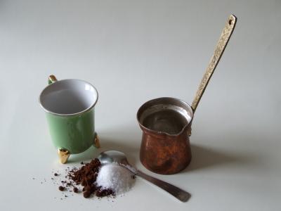 Zutaten für türkischen Kaffee