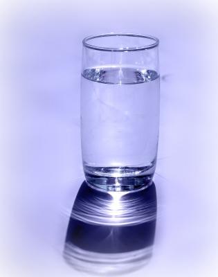 ...ein Glas Wasser...