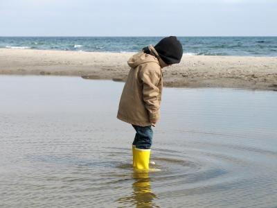Strandspaziergang im Frühling 1
