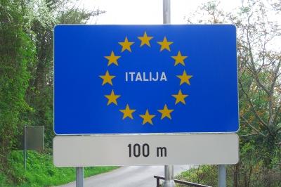 Grenzübergang Slowenien / Italien