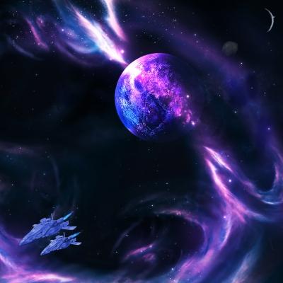 Weltraum-Sturm