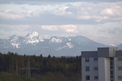 Neuperlach mit Alpenpanorama